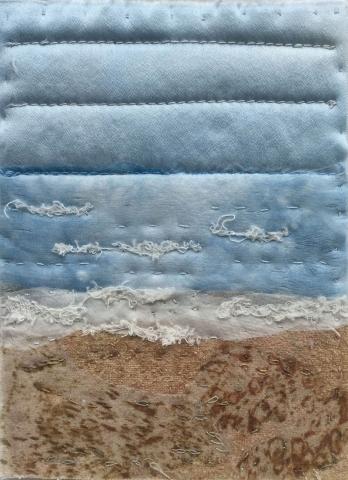 Seascape 7 (7cm x 14cm - mounted 12cm x 18cm)
